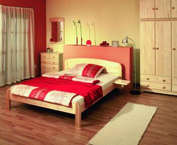 Berghen - postel ze smrkového masivu