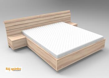 Flora postel s nočními stolky