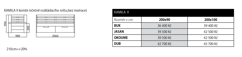 Ceník Kamila combi