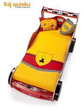 Přehoz Racer žlutý + 2 polštářky 21.04.4457.00