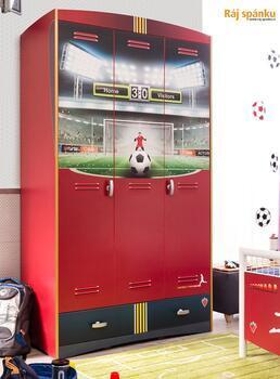Football Šatní skříň 3-dveřová 20.37.1002.00