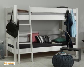 Sendy - patrová postel bílá