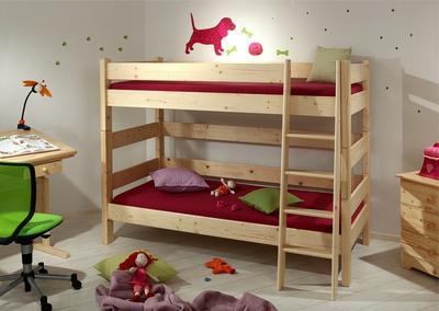 Sendy - patrová postel přírodní - 1