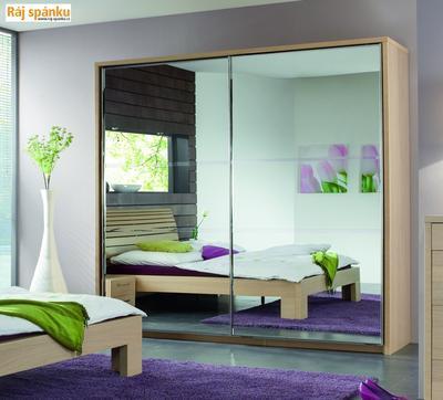 Šatní skříň posuvná -2 zrcadla - 1