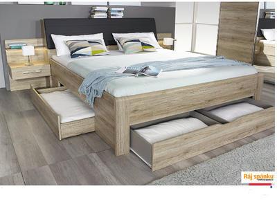 Beny - Set postel s nočními stolky a úložným prostorem - 1