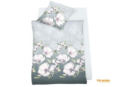 Květina šedo-fialová Povlečení - 1