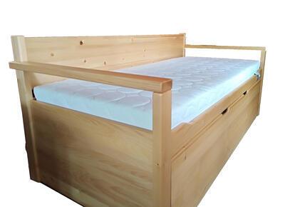 Alika II.  Rozkládací postel s úložným prostorem - 1