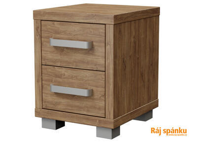 Ikaros Noční stolek 2 zásuvky, Dub ferrara světlý | 40 cm - 1