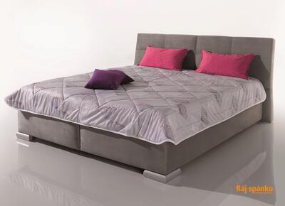 LUSSO čalouněná postel s výklopnými rošty - 1