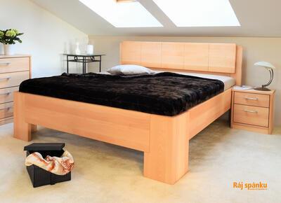 Manhattan 1 masivní postel, 180x200 | 60 Lak ořech - 1