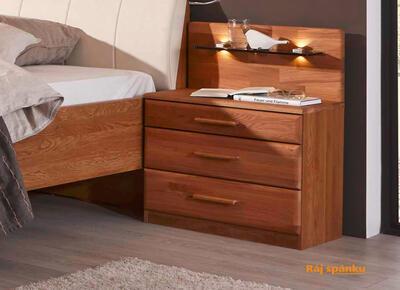 Toledo Noční stolek 3 zásuvky - 1
