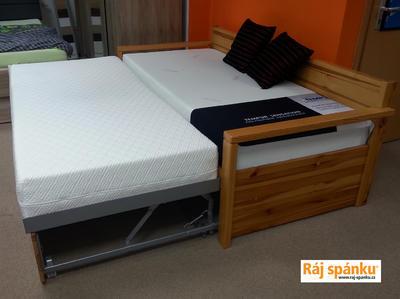Alika II. rozkládací postel, 90/180 x 200 | dub | mořené  - 1