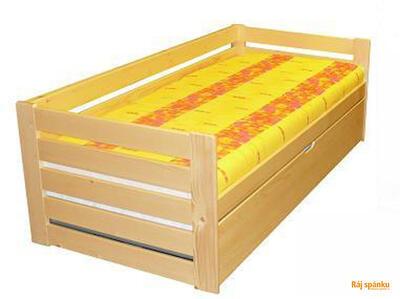 Alika III. rozkládací postel, 90/180 x 200 | borovice | mořené  | bez úl. prostoru - 1