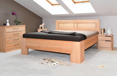 Hollywood 2 vysoká celomasivní postel - 1