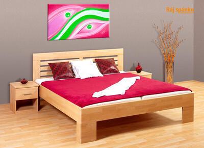 Leona 2 Buková postel - 1