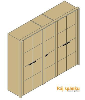 Keros Šatní skříň 5 s římsou a lezénami - 1