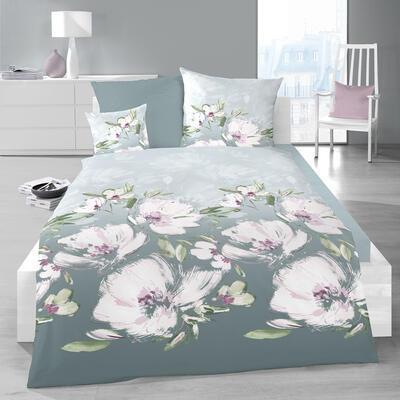 Květina šedo-fialová Povlečení - 2