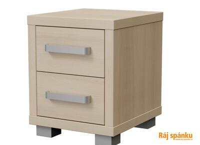 Ikaros Noční stolek 2 zásuvky, Ledová bílá | 40 cm - 2
