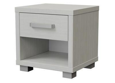 Ikaros Noční stolek 1 zásuvka, Bílé dřevo | 40 cm - 2