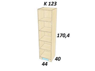 Bořek K 123. Skříň vysoká policová úzká. - 2