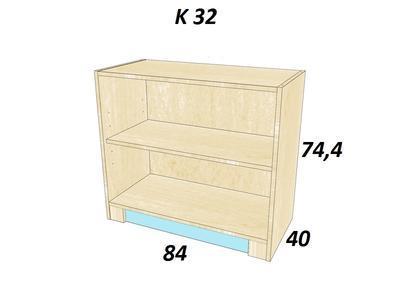 Bořek  K 32. Skříň nízká, bílá - 2