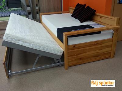 Alika II. rozkládací postel, 90/180 x 200 | dub | mořené  - 2