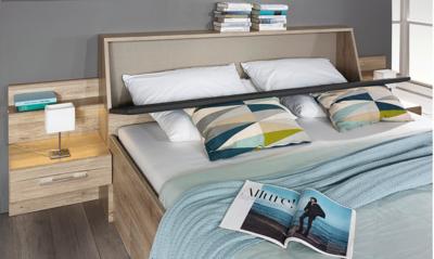 Beny - Set postel s nočními stolky a úložným prostorem - 2
