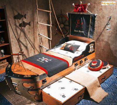 Black Pirate Postel Vysouvací k posteli Loď 20.13.1303.00 - 2