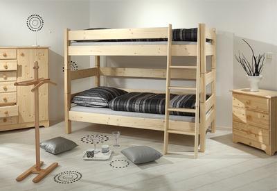 Sendy - patrová postel přírodní - 3