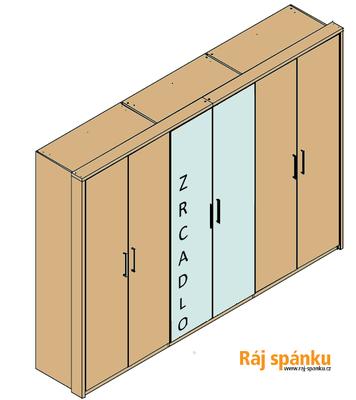 Šatní skříň 300 s římsou a lezénami - 3