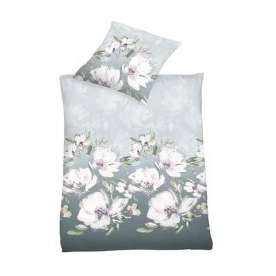 Květina šedo-fialová Povlečení - 3