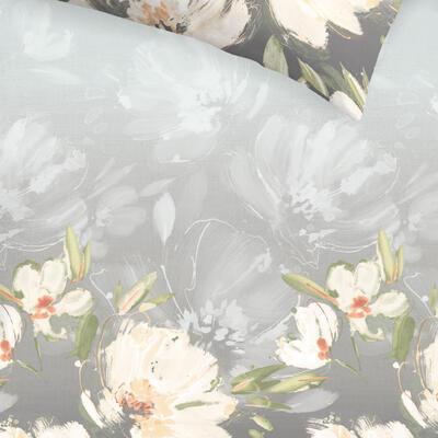 Květina šedo-oranžová Povlečení - 3