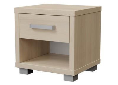 Ikaros Noční stolek 1 zásuvka, Bílé dřevo | 40 cm - 3