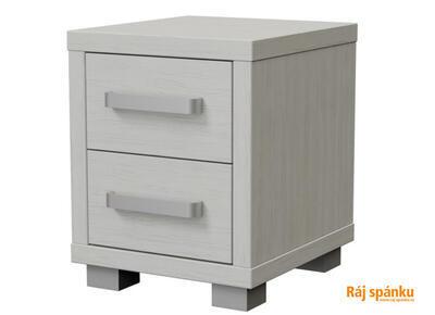 Ikaros Noční stolek 2 zásuvky, Ledová bílá | 40 cm - 3