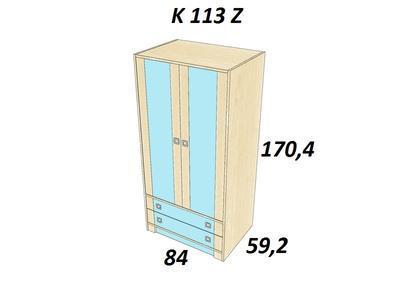 Bořek K113 Z. Skříň hluboká 2 zásuvky - 3