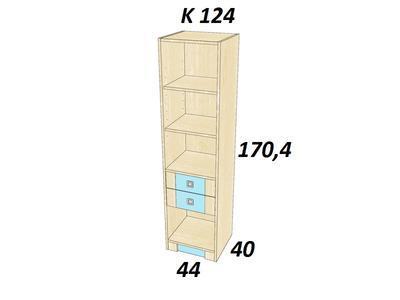 Bořek  K 124. Skříň vysoká. - 3