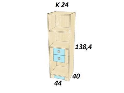 Bořek  K 24. Skříň středně vysoká. - 3