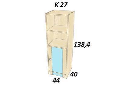 Bořek  K 27. Skříň středně vysoká. - 3