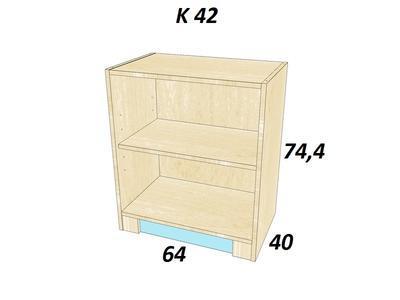 Bořek  K 42. Skříň nízká - 3