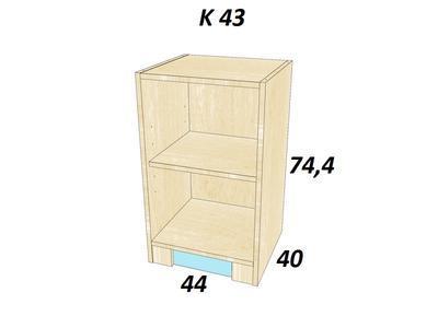 Bořek  K 43. Skříň nízká - 3