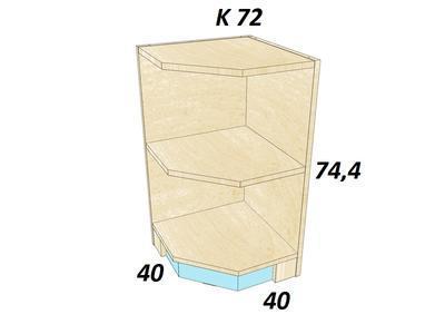 Bořek  K 72. Skříň nízká - 3