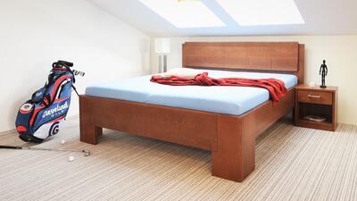 Manhattan 1 masivní postel, 180x200 | 60 Lak ořech - 3