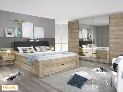Beny - Set postel s nočními stolky a úložným prostorem - 3