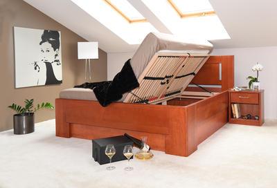 Hollywood 2 vysoká celomasivní postel - 3