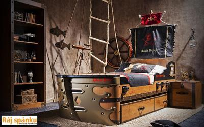 Black Pirate Postel Vysouvací k posteli Loď 20.13.1303.00 - 3