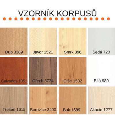 Bořek postel s úl. prostory, 90 x200  olše | modrá sv. - 3