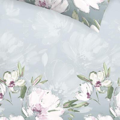 Květina šedo-fialová Povlečení - 4
