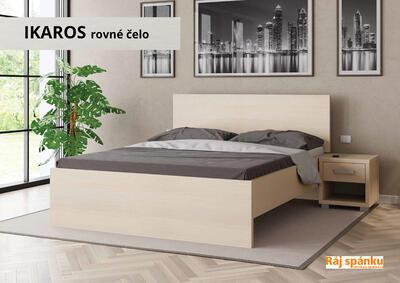Ikaros Noční stolek 1 zásuvka, Bílé dřevo | 40 cm - 4