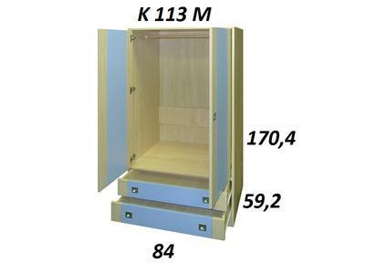 Bořek K113 Z. Skříň hluboká 2 zásuvky - 4