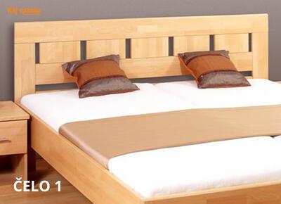 Leona postel s úložným prostorem, 160x200 | buk 82 americká třešeň - 4